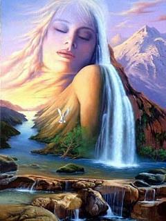 женщина-река